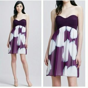 Diane von Furstenberg- Purple & White Silk Straple